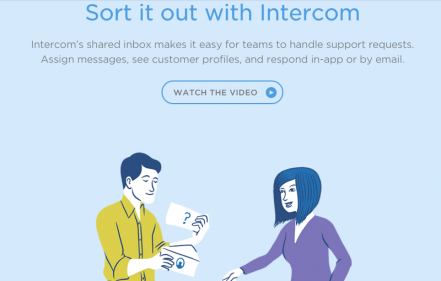 intercom product pages