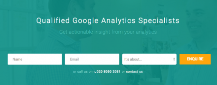 littledata google analytics specialists landing page