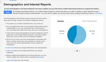 how to get demographic data in google analytics