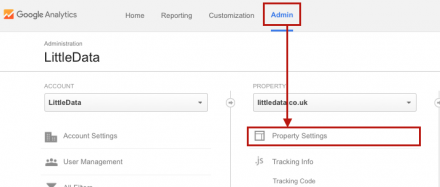 adjust your google analytics property settings correctly