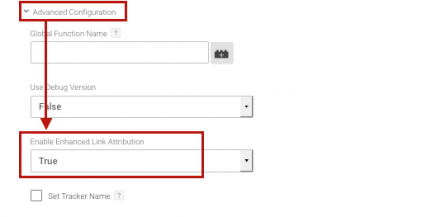 enable enhanced link attribution in google analytics and google tag manager
