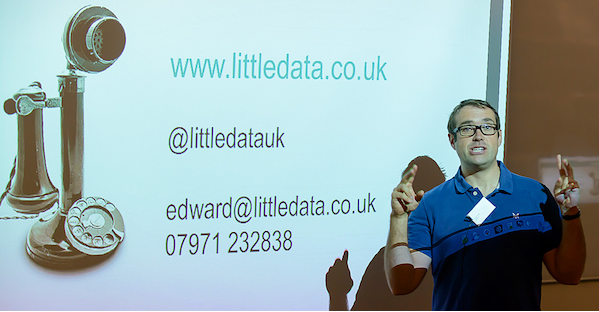 Edward Upton, CEO of Littledata, ending his presentation on the Trend Detection Algorithm