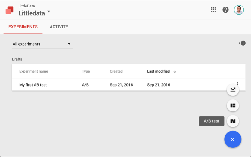 Creating an AB Test in Google Optimize