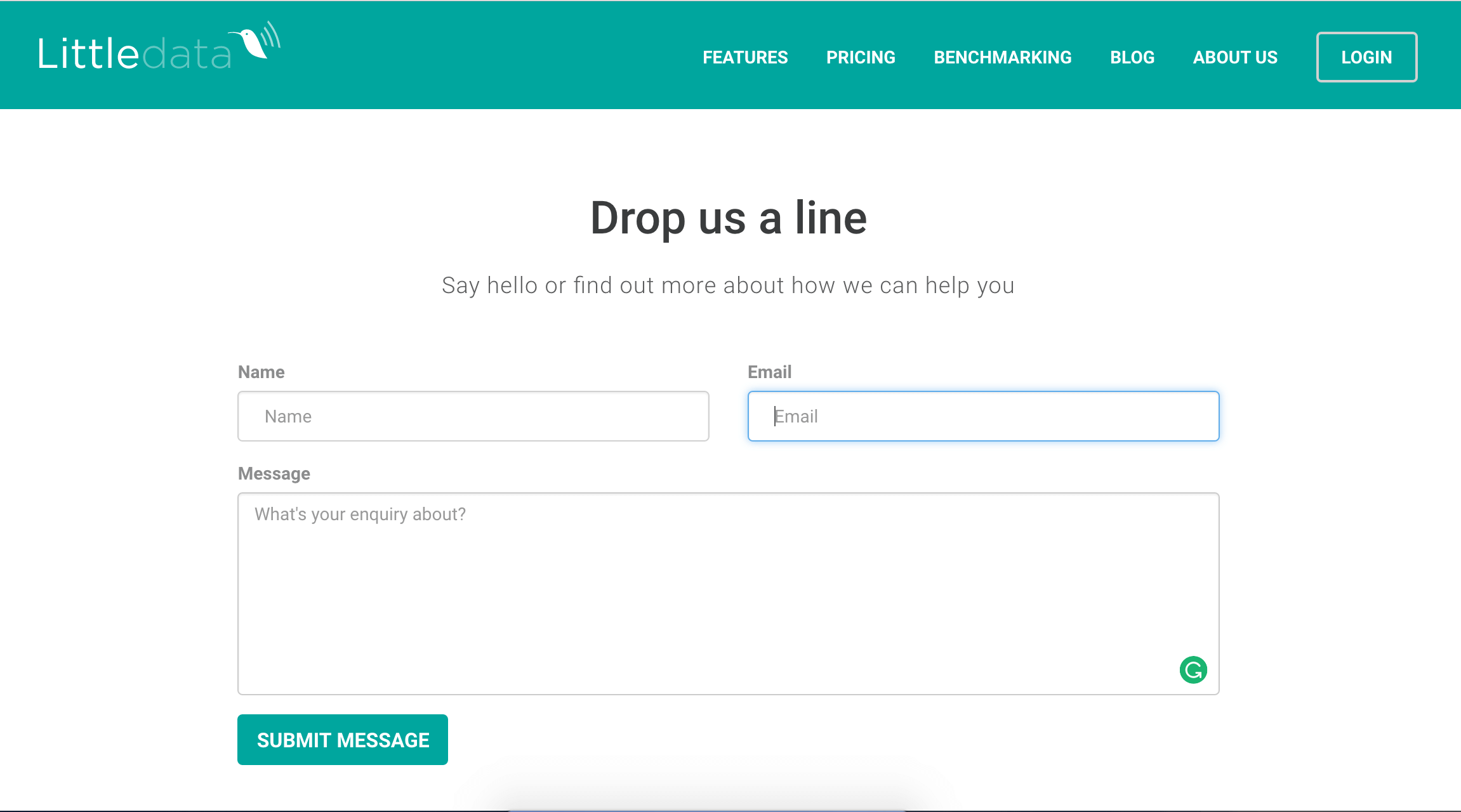 our contact form with a javascript implementation