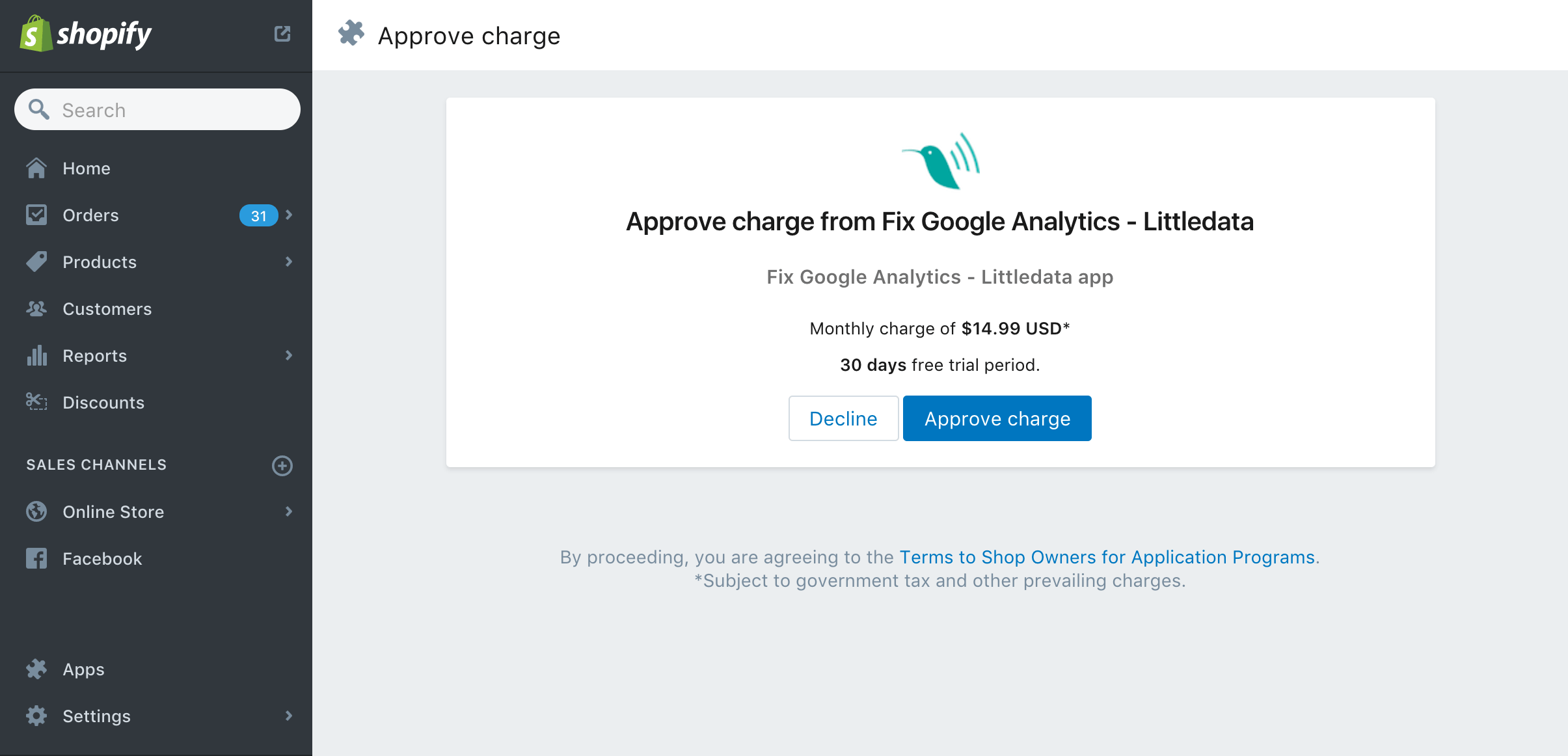 Fix Google Analytics for Shopify stores payment step