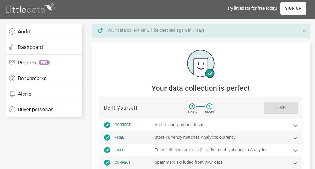 Automatically audit your Google Analytics setup