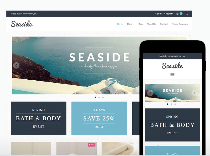 Seaside Style of Providence Theme for Shopify