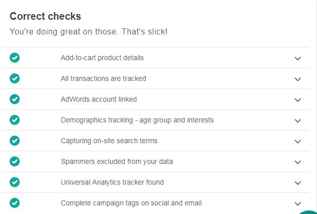 Correct checks for Google Analytics