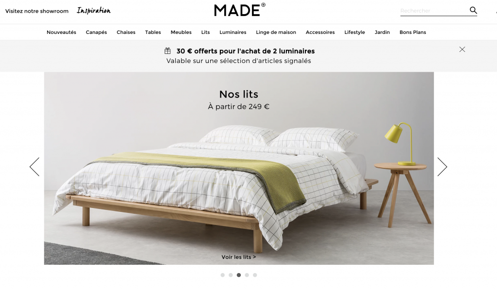 Categorising industry sector for MADE.com