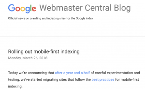 Google- Mobile-first index seo